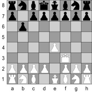 Schach Bauernzug